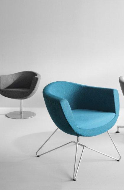 Kolorowe fotele i krzesła biurowe
