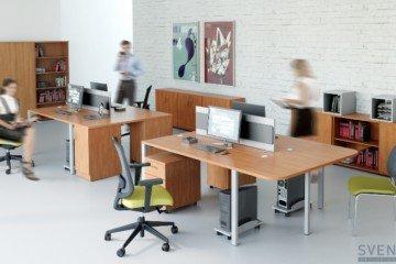 Biurka stojące Svenbox, Eleganckie stojące biuro Classic